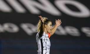Tamires minimiza vantagem do Corinthians na final do Brasileirão Feminino: 'Ficou para trás'