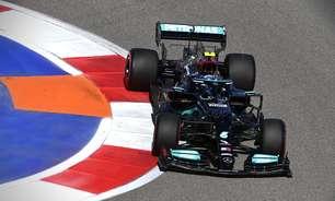 Bottas fecha sexta-feira de treinos na frente em novo 1-2 da Mercedes na Rússia. Gasly é 3º