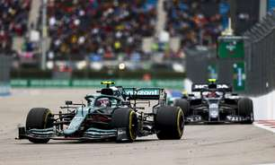 """Vettel diz que chuva fez do GP da Rússia """"loteria"""" e Stroll admite culpa por acidente"""
