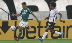 Com derrota para o Corinthians, Palmeiras soma menos de 5% de aproveitamento contra G6 do Brasileirão