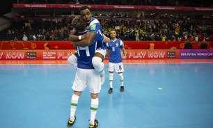 Brasil sofre, mas supera Marrocos por 1 a 0 e garante vaga na semifinal da Copa do Mundo de Futsal