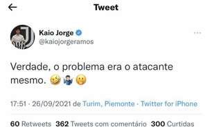Kaio Jorge ironiza o Santos após derrota para o Juventude