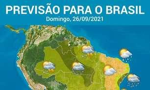 Brasil fica em alerta para temporais neste domingo