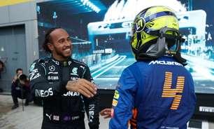 """Hamilton: """"Norris tem muitas vitórias pela frente"""" na F1"""
