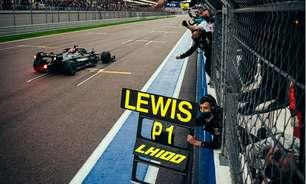 Chuva bagunça F1 na Rússia e Hamilton vence pela 100ª vez