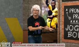 Neto aposta em peruca para homenagear Róger Guedes e dispara: 'Já virou craque'