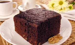 Receita de bolo tipo brownie
