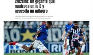 Antes 'La Bestia Negra', agora 'rumo ao naufrágio na Serie B'. Situação do Cruzeiro repercurte na Argentina
