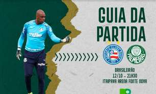 Bahia x Palmeiras: onde assistir ao duelo pelo Brasileirão, arbitragem e escalações