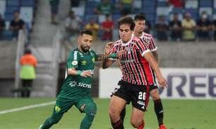 São Paulo joga mal, empata com o Cuiabá e flerta com o Z4