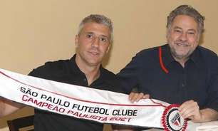 Crespo visita o CT da Barra Funda e se despede de elenco do São Paulo; Casares agradece treinador
