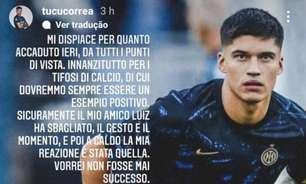 Luiz Felipe explica e se desculpa por brincadeira com jogador da Inter após triunfo da Lazio