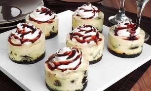 Minicheesecake de biscoito recheado