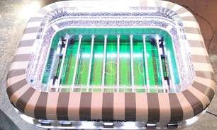 Pebolim no formato do futuro estádio do Atlético-MG é vendido por R$ 25 mil