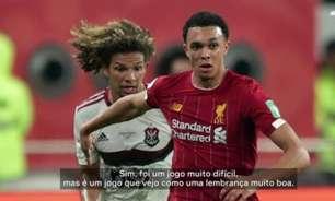 Alexander-Arnold, do Liverpool, recorda Mundial e exalta torcida do Flamengo: 'Muito alto o jogo todo'