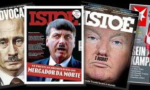 Outros políticos 'viraram' Hitler em capa como Bolsonaro