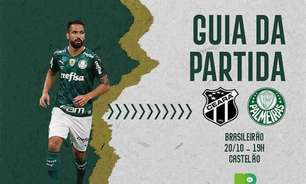 Ceará x Palmeiras: onde assistir ao duelo pelo Brasileirão, arbitragem e escalações