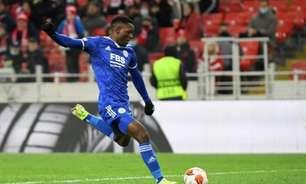 Daka marca quatro gols e garante a vitória do Leicester na Liga Europa