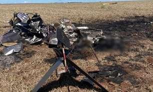 Helicóptero com 300 kg de cocaína cai no Mato Grosso do Sul