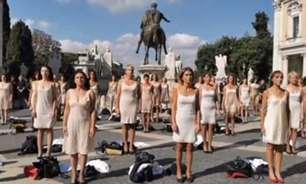 Comissárias de voo tiram uniforme em protesto por Alitalia