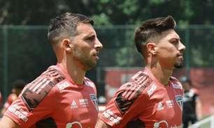 Calleri e Rigoni correm no gramado e seguem recuperação no São Paulo