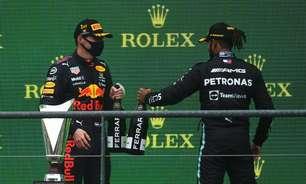 """Chefe da Red Bull diz que """"titã"""" Hamilton jamais teve adversário como Verstappen na F1"""