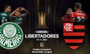 Procura por camisas de Flamengo e Palmeiras crescem com chegada da final da Libertadores
