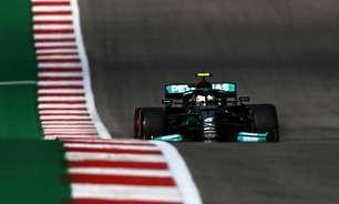 Bottas supera Hamilton e lidera TL1 nos EUA. 3º, Verstappen fica quase 1s atrás