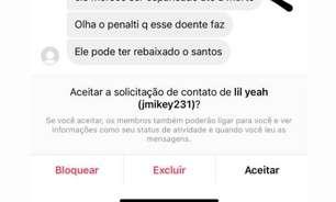 Esposa de Jean Mota expõe ameaças de morte ao jogador após expulsão na derrota do Santos