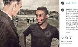 Das fotos históricas à vida pessoal: as lembranças de Pelé contadas no seu Instagram