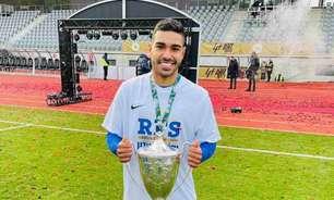 Lucas Villela celebra gol do título do FK RFS na Copa da Letônia: 'Mostrar o meu valor é gratificante'