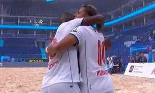 Vasco bate o Dínamo Minsk e fica com a terceira colocação do Mundialito de futebol de areia