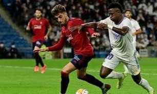 Real Madrid empata com o Osasuna em casa no Espanhol e desperdiça chance de disparar na liderança