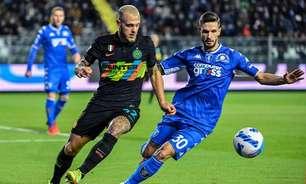 Internazionale vence Empoli e segue em busca da liderança do Italiano