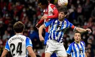 Atlético de Madrid em campo sonhando com liderança da La Liga