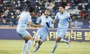 Bruno Lamas, do Daegu, celebra gol e classificação à final da Copa da Coreia do Sul: 'Extremamente feliz'