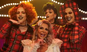 Com vestido de noiva, Gretchen vira drag queen em reality