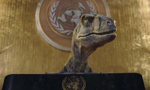 Com uso de dinossauro, ONU faz alerta sobre crise climática