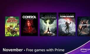 Prime Gaming dá Rise of the Tomb Raider e Control em novembro