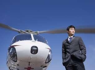 Aluguel de helicóptero é opção para driblar trânsito caótico