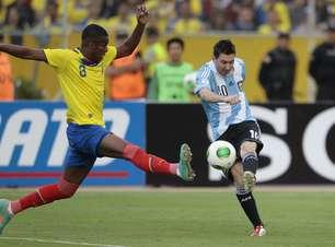 No sufoco, líder Argentina empata com o Equador na altitude