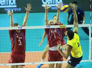 Liga Mundial: Brasil estreia com derrota para Rússia em jogo tenso