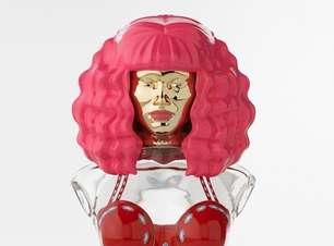 Cantora Nicki Minaj divulga imagem do perfume Minajesty