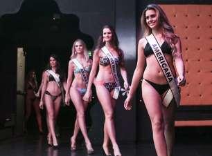 Candidatas ao Miss SP desfilam de biquíni em prévia de evento