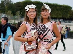 Par de vaso: duplas apostam em looks combinados na semana de moda