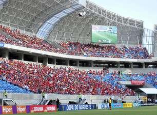 Sem estrelas, Arena das Dunas vê zagueiro marcar primeiro gol do estádio