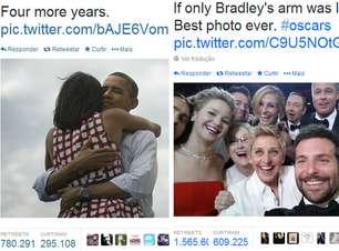 Em minutos, selfie de astros supera retuítes de Obama