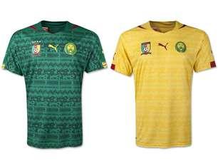 Camarões apresenta camisa estilizada para a Copa do Mundo