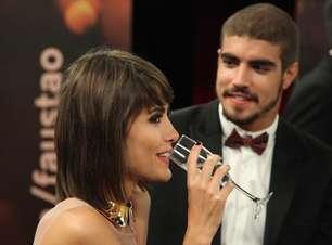 Faustão incomoda Caio Castro e Casadevall ao falar de affair