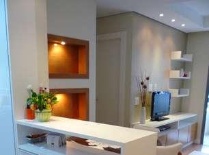 Apartamento de 43 m² tem truques para aproveitar espaço